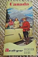 Vintage 1950s Canada An All Year Vacation Travel Guide Brochure