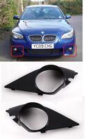 NEW BMW E60 E61 M-SPORT FRONT BUMPER FOG LIGHT COVER TRIM PAIR SET LEFT + RIGHT