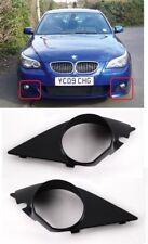 NEW BMW E60 E61 M-SPORT FRONT BUMPER FOG LIGHT COVER GRILL TRIM PAIR LEFT RIGHT