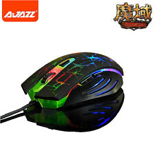 Ajazz 2400DPI The Dark Knight Rainbow LED 6 Buttons Usb Gaming Mouse WOW LOL CF