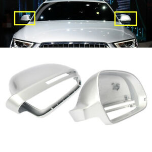 Fit For AUDI A4 Allroad B8 2010-2016 A6 4F 2009-11 Silver Door Wing Mirror Cover