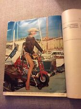 HONDA MONKEY BIKE CZ100 White Tank French in St.Tropez Magazine / brochure Rare