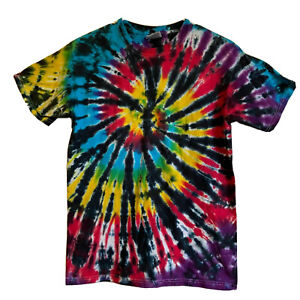 vintage hanes tie dye shirt adult mens small spiral space galaxy black hole sun