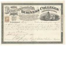 1867 R6c on Bryant, Stratton & Co. Business College Certificate Albany, New York