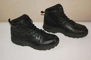 Nike ACG Manoa Leather Triple Black Men's Size 9 Lace Up Boot 454350-003