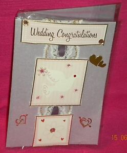 Handmade Card - Congratulations On Your Wedding Day.