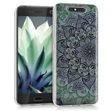 kwmobile Crystal Case für ZTE Blade V8 Blume Ornament IMD Design Cover TPU