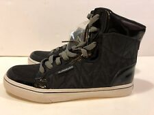 Quicksilver Black Patent Leather Regal HI Tops Size 10 NWT!