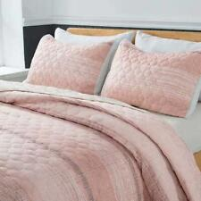 Shalala New York Lightweight Quilt Set with 2 Quilted Shams - Stripped Pattern B