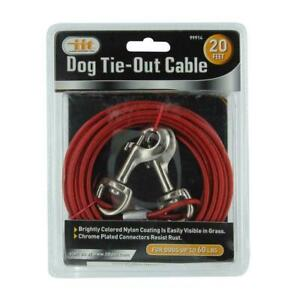 20' HEAVY DUTY DOG TIE-OUT CABLE Durable Weather Resistant for 60lb Dogs