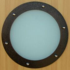 PORTHOLE FOR DOORS STAINLESS STEEL OLD COPPER phi 230 mm flat