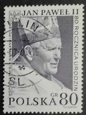 POLAND STAMPS 1Fi3682 Sc3520 Mi3830 - Birth of pope John Paul II, 2000, used