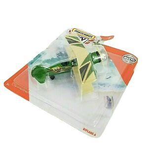 Matchbox 2020 Sky Busters BIPLANE-A 12/13 Airplane Green - NEW/ Sealed GKT59
