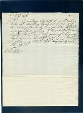 More details for very early hand written cheque /promissory note 1716