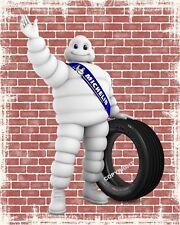 "10"" x 8"" MICHELIN MAN TYRE CAR MOTORCYCLE GARAGE WORKSHOP METAL SIGN PLAQUE 1410"