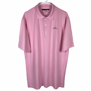 Bristol Harbour Greg Norman Polo Golf Shirt Large Pink Play Dry Shark Logo
