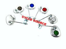 ONE (1)Tear Lowrider Chrome V Rear View Bicycle Mirror Beach Cruiser Bike Chrome