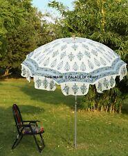 Garden Parasol Indian Handmade Hand Block Print Outdoor Sun Shade Patio Umbrella