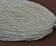 wholesale 10 Qty small beads real freshwater pearl 2-3mm white loose strings