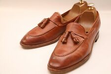 Men's Paul Smith Tan Brown Leather Tassel Loafers Shoes UK 10