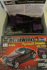 NIB Motorworks Plymouth Prowler With Trailer 1:25 Scale Model Kit By Revell