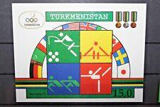 """FRANCOBOLLI TURKMENISTAN 1992 """"SPORT OLIMPIADI BANDIERE"""" MNH** BLOCK IMPERF. C.A"""