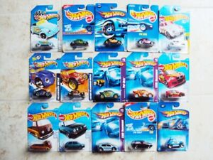 Lot of 15 Different Hot Wheels Volkswagen, on cards 1991-2017