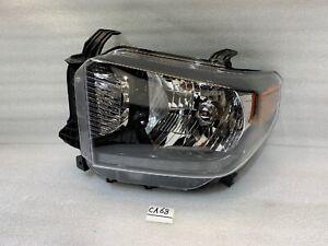 FOR 2018 2019 2020 Toyota Tundra Black Headlight Left Driver Halogen LED