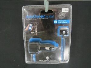 New DLO Car Charger For Ipod and Ipod Nano Black