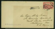Dominican Republic 1928 Paquebot Cover San Juan, Pr to Md franked Scott 243