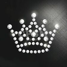 CROWN Hotfix Crystal Rhinestone Motif Iron On Transfer royal princess glitter