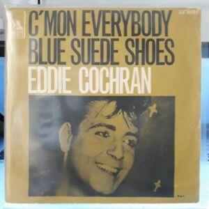 Rare SP 45 T - Eddie Cochran – C'mon Everybody / Blue suede shoes 1968 Biem