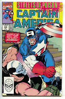 Captain America 378 Marvel 1990 NM Streets Of Poison Crossbones Red Skull