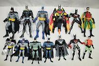 TM & DC COMIC HASBRO BATMAN & ROBIN MIXED LOT OF 13 ALL DIFFERENT ACTION FIGURES