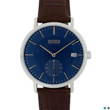 Hugo Boss Watch with Blue Face and Brown Leather strap