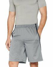 "Under Armour NEW Men's 10"" Tech Mesh Basketball Shorts Silver Grey XX-Large"