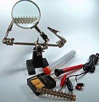 Die helfende 3. Hand mit Modellbahn-MiniaturLötgarnitur #WZ3+5