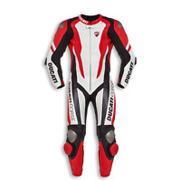 """""""DUCATI"""" Corse Motorcycle Red Motorbike Racing One Piece Leather SUIT Armoured"""