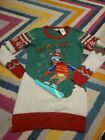 """NWT Juniors Large It's Our Time Ugly Christmas Sweater """"Dream Big"""" Reindeer"""