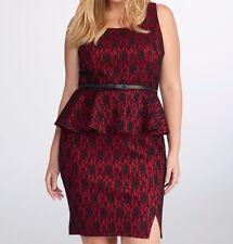 Torrid Rebel Wilson For Torrid Lace Peplum Dress Red 5X 28 5 #41447