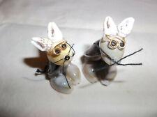 Set Of 2 Miniature Mice Made Of Shells