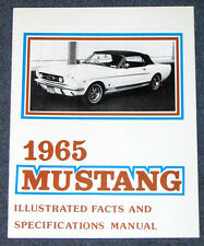 Ford Mustang Illustrated Facts Book 1965 65 Repro Vintage dealer literature