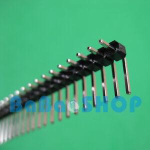 10pcs 40 Pin 2.54 mm Right Angle Single Row Pin Header PCB New