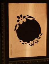 Mery's *  Steel * Stencil * METAL * Circle * Frame * Flower * Border * Emboss
