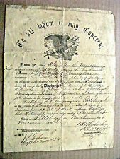 CIVIL WAR PENNSYLVANIA  DISCHARGE SIGNED BY GENERAL ABRAM A HARBACH