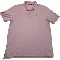 Travis Mathew Mens Golf Polo Shirt Red Short Sleeves Pima Cotton Blend Top XL