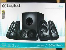 Logitech Z506 Speaker System 5.1 Black 980-000431 RMS 75W AC Euro plug New