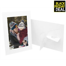 Pack of 25 Cardboard Photo Easel Frame for 5x7 PhotosWhite