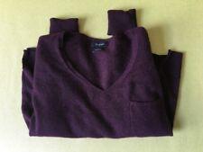Marks Spencer Autograph cashmere jumper burgundy brown V neck women pocket large