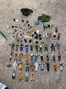 Huge Vintage  Gi Joe Action Figure Collection Lot 1980s Toys, Weapons, vehicles